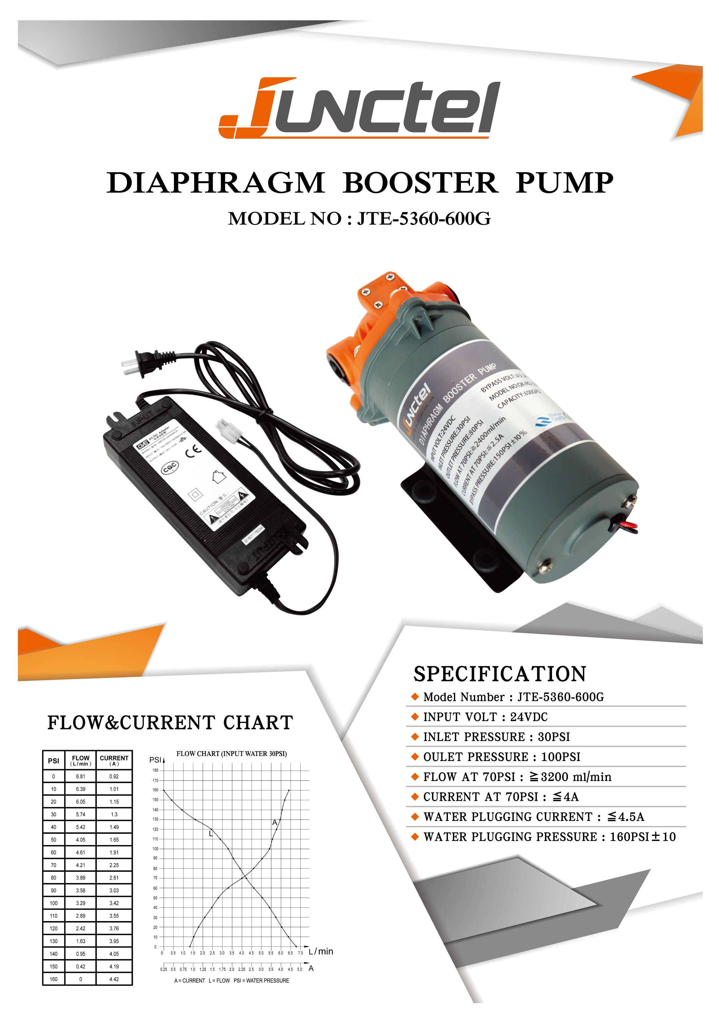 Taiwan Diaphragm Booster Pump 600gpd Aqua Care Co Ltd