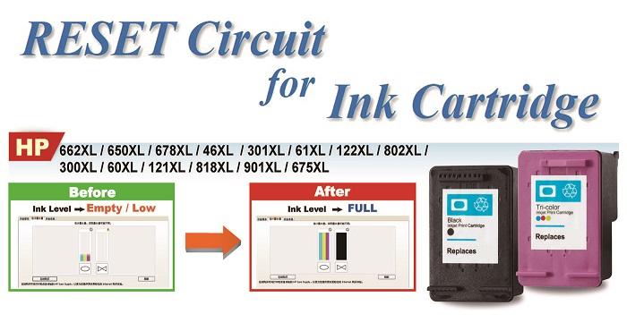 Taiwan Reset circuit ink cartridge for HP 63 deskjet 1110