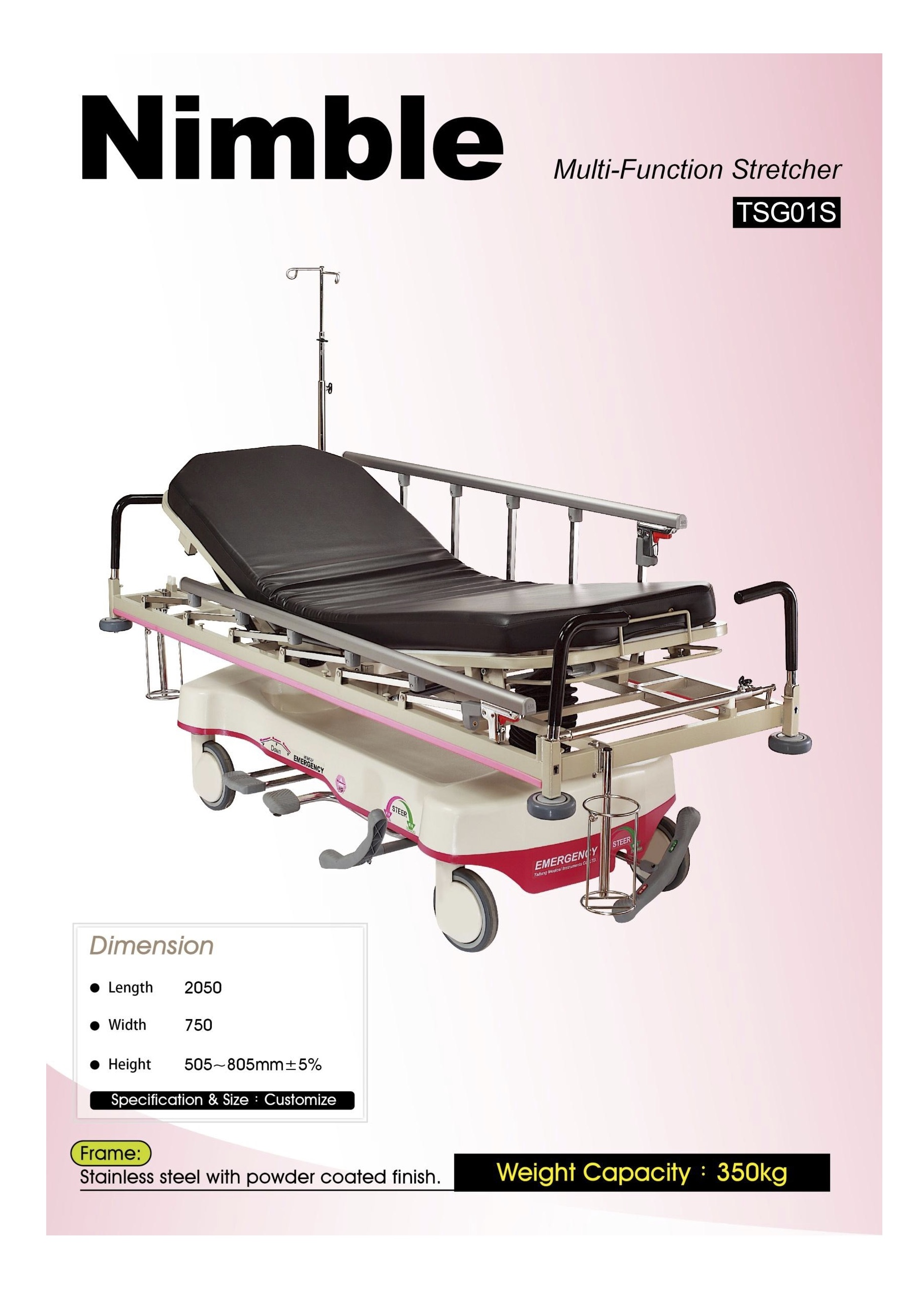 multicare fast trolley image shower delivery product