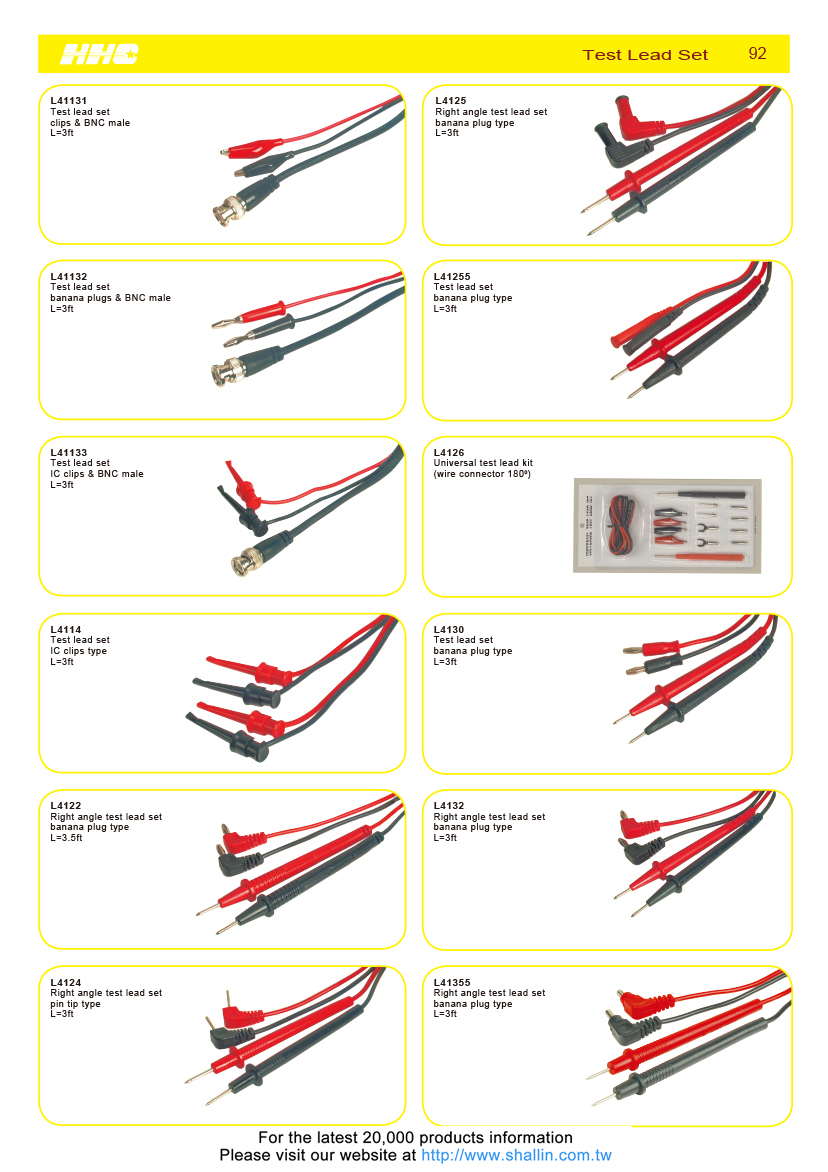 Taiwan Universal Test Lead Kit Wire Connector 180 Shallin Wiring Harness Plugs You Name It We Have