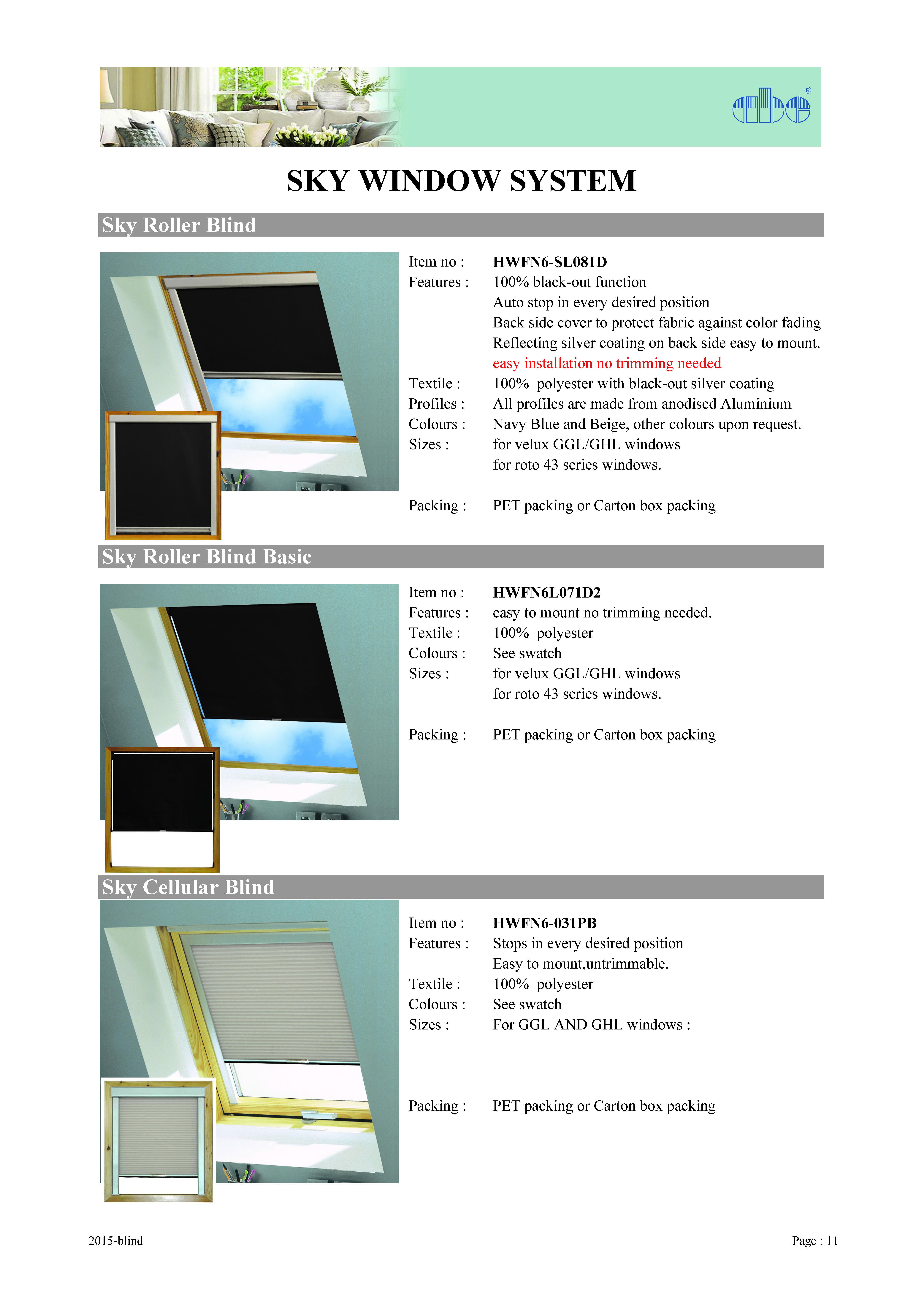 Taiwan Sky Roller Blind All Blinds Co Ltd