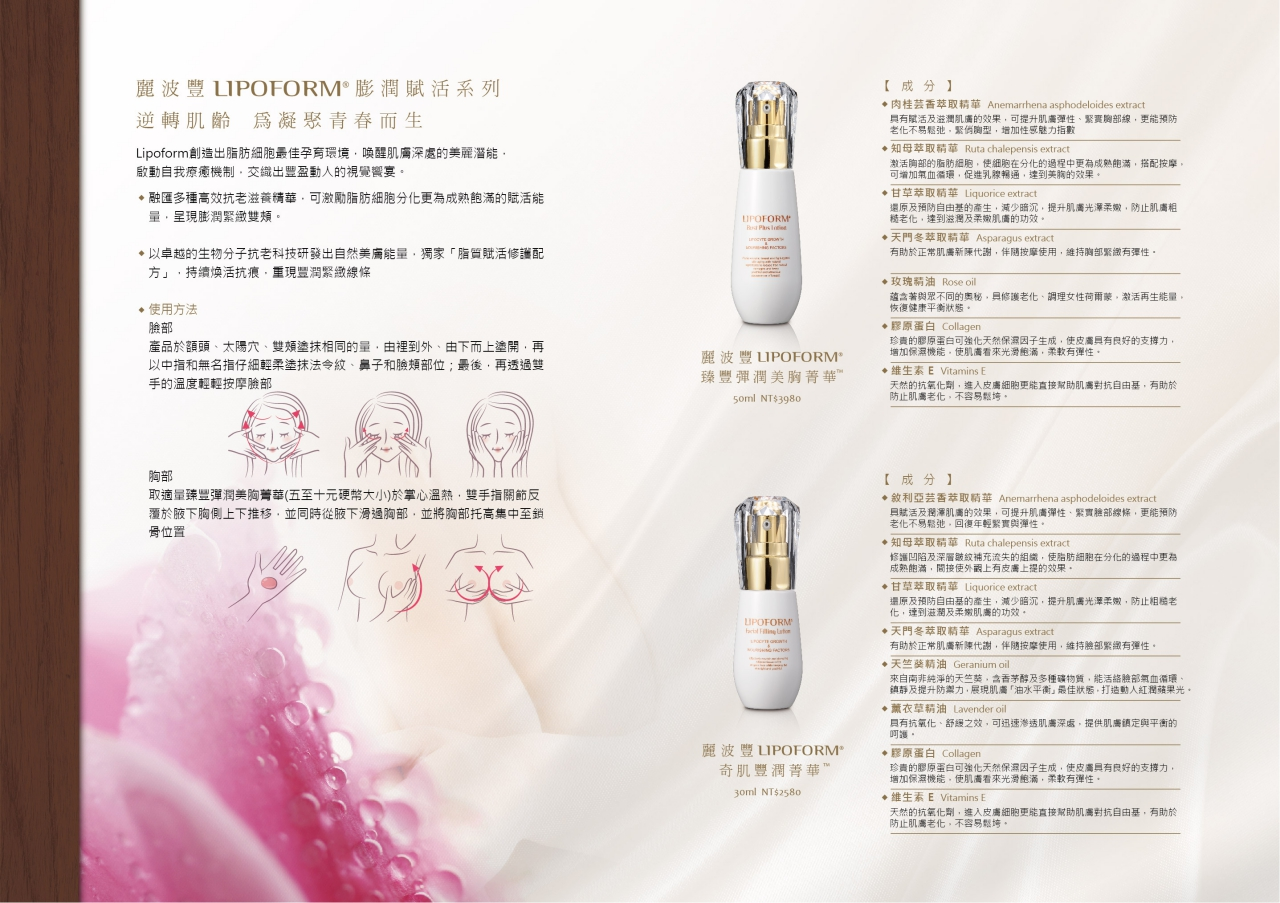 Taiwan LIPOFORM® Bust Plus Lotion | Taiwantrade